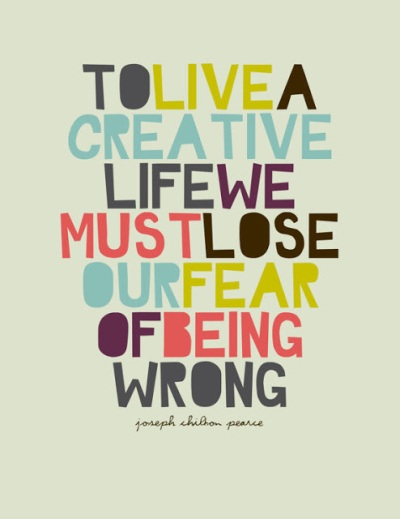creative life fear of wrong